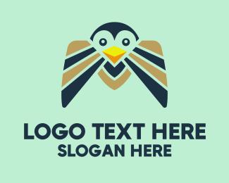 Cold - Happy Penguin  logo design