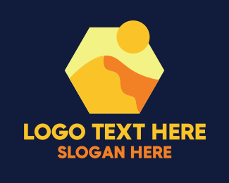 Sightseeing - Desert Sand Dune Mountain logo design