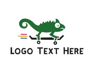 Skateboard - Chameleon Skateboarding logo design