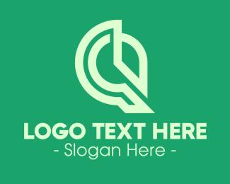 Green Digital Clock Logo