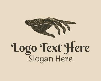 Fortune Teller - Fortune Telling Hand logo design