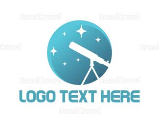 Telescope - White Telescope logo design