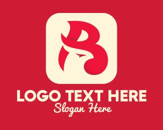 Beauty Brand - Bird App Letter B logo design