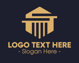 Elegant - Elegant Hexagon Pillar logo design