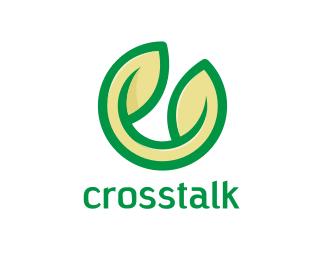 Random Green Leaf C logo design