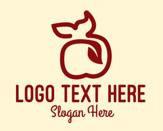 Apple - Abstract Organic Apple logo design