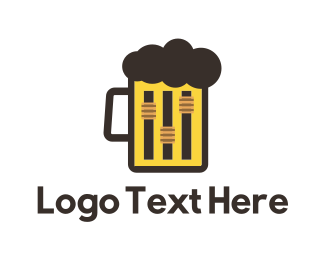 Live Music - Beer & Music logo design