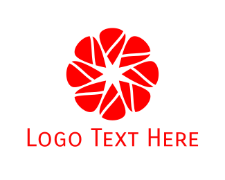 Blossom - Red Flower logo design