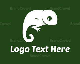 Reptile - White Lizard logo design