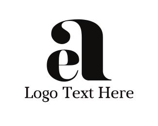 cursive e a logo design