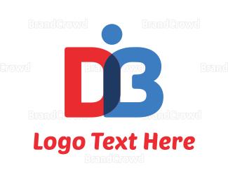 Learning Center - D & B Book logo design