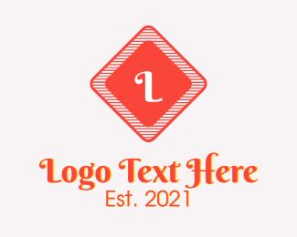 Fashion Designer - Red Script Fashion Letter logo design