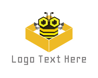 Beehive - Bee Box logo design