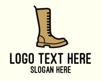Boot - Brown Boot logo design