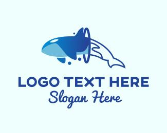 Orca - Killer Whale Aquarium logo design