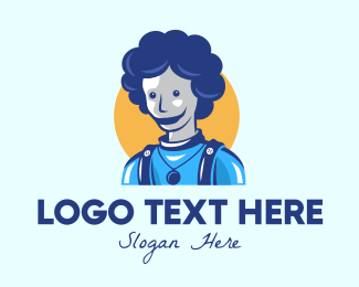 Mommy - Blue Abstract Person logo design