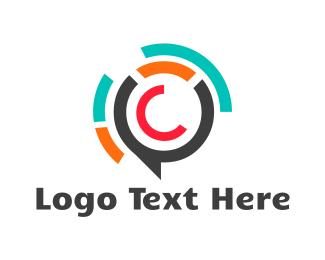 Speech Bubble - Bubble Letter C logo design
