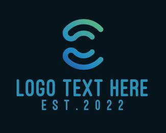 Letter C - Digital Blue Letter C logo design