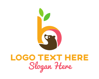 Brown Bear - B & Bear logo design