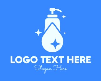 Handwashing - Blue Sparkling Clean Liquid Soap logo design