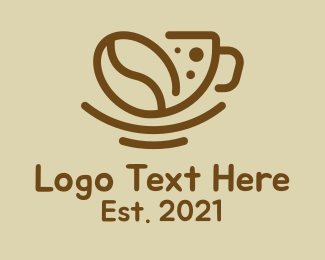 Instant Coffee - Coffee Bean Cup logo design