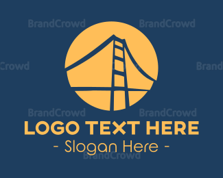 Gate - Blue & Orange Bridge logo design