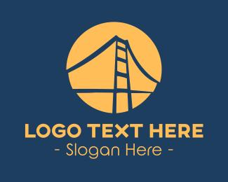 Bridge - Blue & Orange Bridge logo design