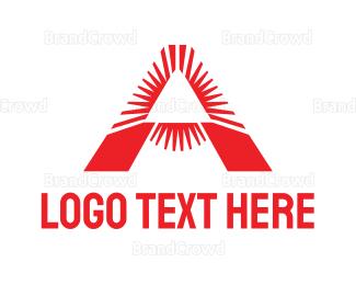 Austrian - Red Triangle A logo design