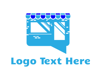 Shopify - Store Chat logo design