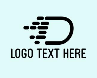 Express - Fast Letter D logo design