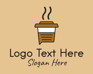 Cappucino - Hot Coffee Chat logo design