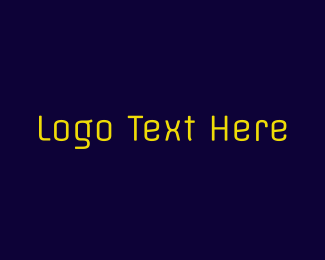 Text - Neon Yellow Text logo design