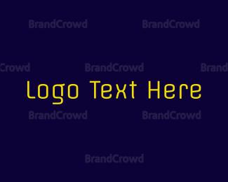 Text - Neon Yellow Text logo design
