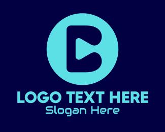 Stream - Blue Streaming App Letter C logo design