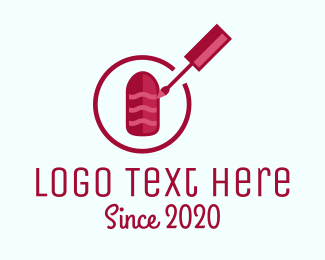 Nail Tech - Red Nail Polish logo design