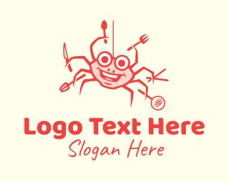 Crab - Seafood Crab Cook logo design