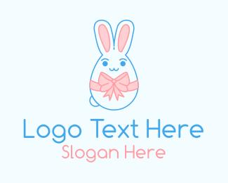 Easter Bunny - Easter Bunny Ribbon logo design