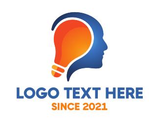 Bright - Human Bright Idea logo design