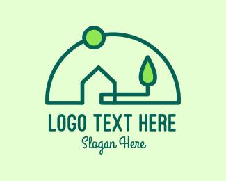 Home Property - Eco Residential Home Property  logo design