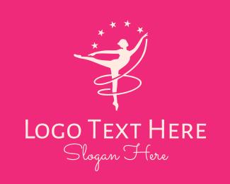 Dancer - Pink Ballet Studio logo design