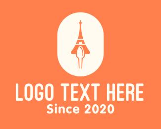 Food Blog - Eiffel Tower Food Cuisine  logo design