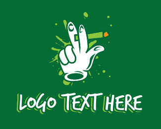 Joint - Smoking Joint Spliff logo design
