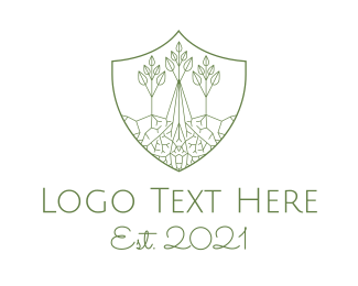 Roots - Forest Conservation Emblem logo design