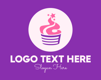 Baking Supplies - Sparkling Cupcake logo design