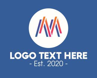 Letter M - Gradient Letter M logo design