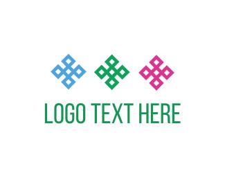 Four Leaf Clover - Three Flowers logo design