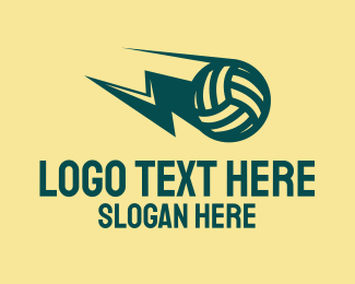 Sports Training - Lightning Volleyball logo design