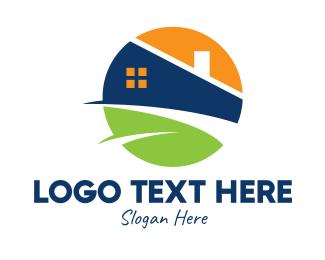 Chimney - Modern Real Estate Property logo design