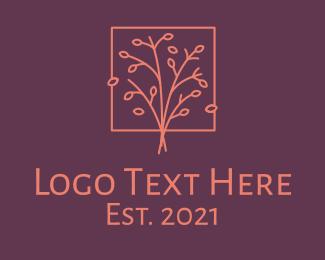 Frame - Orange Frame Tree logo design