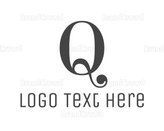 Dark - Classic Dark Q logo design